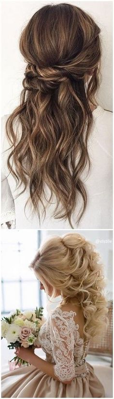 Wedding Hairstyles » 22 Half Up and Half Down Wedding Hairstyles to Get You Inspired »   ❤️ See more:  www.weddinginclud... #EverydayHairstylesHalfUp