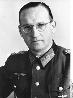 Hans Speidel (1897-1984) was a World War II German general (ca. 1944). Speidel was appalled by Nazi racial policies and was a key conspirator in the 1944 plot to kill Hitler. He was arrested by the Gestapo, but he admitted nothing and betrayed no one. Freed by French troops in April 1945, he was the only one of the inner circle not to die by execution or suicide. He was involved in creating the postwar Bundeswehr, and was named Commander-in-Chief of NATO ground forces in Central Europe in…