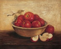 Apples In Wood Bowl Stampa di T. C. Chiu su AllPosters.it