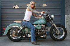 Motorcycle harley biker girl 00013