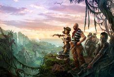 ArtStation - Robinson Crusoe Cover, Mateusz Lenart