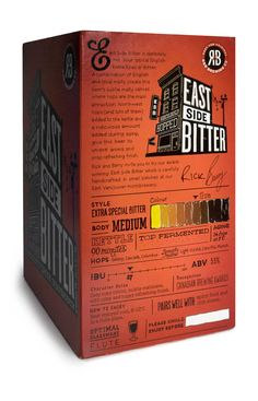 R Brewing // craft beer packaging // consumption tips and info on box