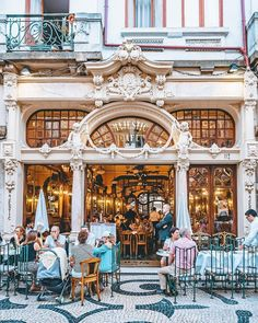 "Visit Porto in Portugal, a great travel destination for a city trip: ""The perfect spot to get some rest after a long day exploring the city! ☕⁣ If you are craving something sweet, order Rabanadas (french…"" Portugal, Carrasco, Long Day, Camping, Get Some, Pond, Art Nouveau, Travel Destinations, Places To Go"