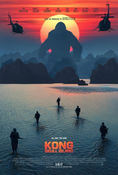 Watch the new trailer for Kong: Skull Island, the King Kong reboot starring Brie Larson, Tom Hiddleston, Samuel L. Jackson, and John Goodman. Kong Skull Island Poster, Kong Skull Island Movies, King Kong Skull Island, Kong Island Movie, Hd Movies Online, New Movies, Movies To Watch, Good Movies, 2017 Movies