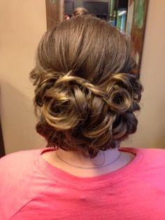 braided curls, wedding hair, updo, curls
