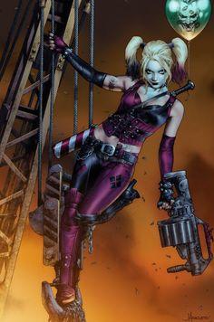 "redskullspage: ""Harley Quinn by Jay Anacleto "" Harley Quinn Drawing, Harley Quinn Cosplay, Joker And Harley Quinn, Marvel Dc, Evvi Art, Images Instagram, Harely Quinn, Gotham Girls, Gotham Batman"