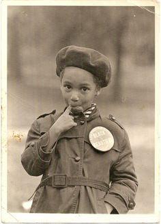 "BLACK IS BEAUTIFUL  Unidentified African American girl. Coat button reads, ""Black Is Beautiful."" via vintagenoire."