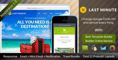LAST MINUTE - Travel Email Bundle + Builder
