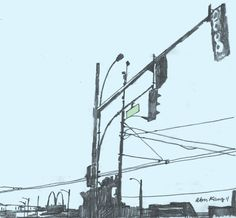 traffic lights main and first