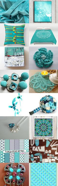 Turquoise LUV by Hookin' to the Beat on Etsy