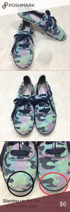 664937587 Keds Rookie Camo Pastel Print Tennis Sneakers 9 Brand  Keds Style  Name Number