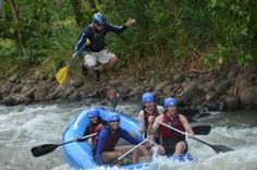 Big guide jump on wild rapids - La Fortuna de San Carlos, Alajuela