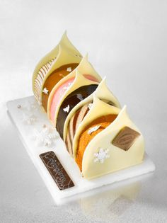"Bûche Poème de Noël - Café Pouchkine - ""Who created me, then He has shown me the way: And He Who gives me to eat and gives me to drink. Gourmet Desserts, Fancy Desserts, Plated Desserts, Just Desserts, Delicious Desserts, Dessert Recipes, Yummy Food, Cupcakes, Cupcake Cakes"