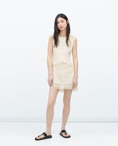 Image 1 of CROCHET COMBINED DRESS from Zara
