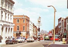 Surrey, Sutton. High Street, Cock Hotel in the 1960's
