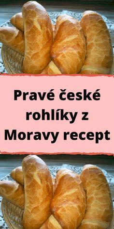 Pravé české rohlíky z Moravy recept Czech Recipes, Ethnic Recipes, Czech Desserts, Bread Dough Recipe, Good Food, Yummy Food, Cheesecake Recipes, No Bake Cake, Hot Dog Buns