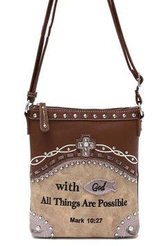 Western CowGirl Bible Verse Design Messenger Bag #GetEverythingElse #MessengerCrossBody