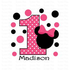 Printable Minnie Mouse Birthday Iron On Transfer by SweetPeaPrintz, $2.75