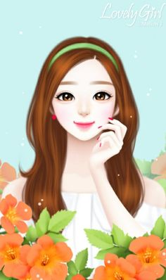 Image in Lovely Girl💋 collection by ChiangWaiFun Cute Girl Drawing, Cartoon Girl Drawing, Girl Cartoon, Anime Korea, Cute Kawaii Girl, Lovely Girl Image, Girly Drawings, Cute Girl Wallpaper, Cute Bee