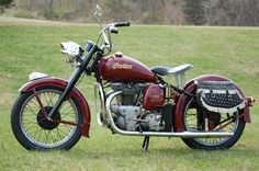 1949 Indian Model 249 Super Scout: this was the start of the end of an Icon. went belly up a few years later....