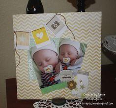 Baby Boy Scrapbook Layout - using Dear Lizzy Neapolitan