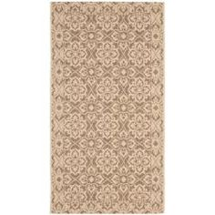@Overstock - Perfect for any backyard, patio, deck or along the pool, this rug is great for outdoor use as well as any indoor use that requires an easy to maintain rug.http://www.overstock.com/Home-Garden/Brown-Cream-Indoor-Outdoor-Rug-27-x-5/6337179/product.html?CID=214117 $27.99
