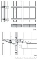 """Image:Plan, section and detail of the """"double-skin"""" facade at a """"Wing"""" level of Drawing-A"""