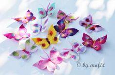 mafiz.de - Gefilzte bunte große Schmetterlinge für die Schultüte