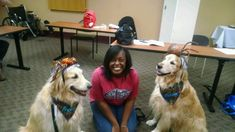"""Shamontiel wrote """"I want my therapy dog to have a heartbeat ~ Why robotic therapy dogs don't impress me as much as real therapy dogs"""" #strokesurvival #therapydogs #mentalhealth #dogowner #doglover #petlover (Photo credit: Gwen Y. Vaughn)"""