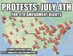 FIND A PLACE OF PROTEST FOR JULY, 4TH