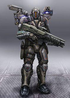 Cyborg Soldier by AlienTan.deviantart.com on @deviantART