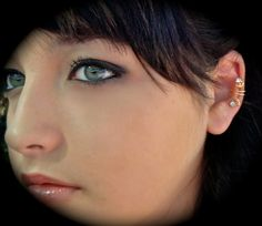 Pierceless Ear jewelry Mini Earlumear cuffearringgolden by earlums, $12.99
