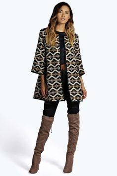 Laura Aztec Chuck On Jacket