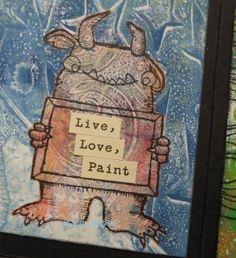 LOVE THIS :) Gelli Arts prints accordion book