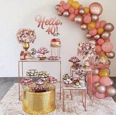 Balloon Decorations, Birthday Decorations, Baby Shower Decorations, Wedding Decorations, 60th Birthday, Birthday Parties, Gold Bridal Showers, Wedding Balloons, Party Needs
