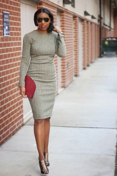 DIY Perfect Little Herringbone Dress