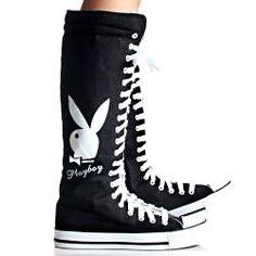 £37.10 Playboy by Beston Women's PB1020 Canvas Sneaker Boots
