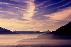 Lake Como, Italy: natural beauty with the head in the clouds Sky Full, Lake Como, Natural Beauty, Como Italy, Clouds, Mountains, Travel, Dreams, Viajes