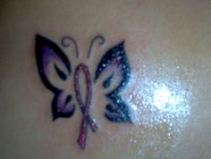 Cancer Butterfly Tattoos Designs | Breast cancer butterfly tattoo
