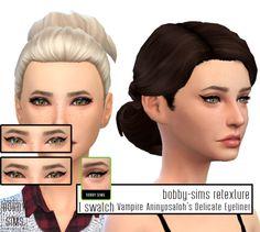 bobby-sims:  [TS4] Vampire Aninyosolah's Delicate Eyeliner retexture I just remove the eyelashes at the back.  1 swatch  Mesh byVampire_aninyosaloh Custom thumbnail  MESH HEREDL