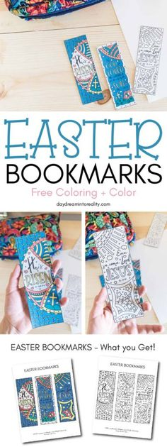 Free Printable Coloring Easter Bookmarks (Also in color) Today I have these beau. Free Printable Bookmarks, Bookmarks Kids, Free Printables, Party Printables, Easter Coloring Pages Printable, Easter Printables, Easter Colouring, Coloring For Kids, Adult Coloring