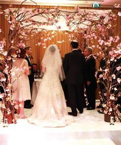Cherry blossom chuppah - a Jewish wedding altar, but I love the cherry blossom arch so much!