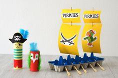 DIY: concevez avec de l'essuie tout Okay et du matériel de récupération une véritable déco d'anniversaire pirate !