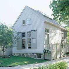 Barbara Garfield reconstructs barns into beautiful small homes.