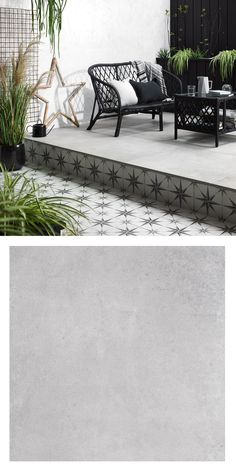These Trax Grey Mist Slab Tiles are perfect for create an outdoor patio area. These Trax Grey Terrace Tiles, Garden Tiles, Patio Tiles, Outdoor Flooring, Outdoor Tiles Patio, Pavers Patio, Patio Stone, Patio Plants, Concrete Patio