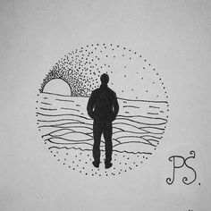 #татуировка #тату #татуэскиз #эскиз #графика #дотворк #чб #море #закат #человек #стоишьнаберегу #достучатьсядонебес #берег #tattoo #tattoosketch #sketch #graphic #dotwork #bw #sea #sunset #man #knockonheaven #coast