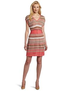 Laundry by Shelli Segal Women's Multi Stitch Sweater Dress for $195.00