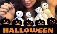 Halloween auf Youtube | Süße Geister ganz einfach selber basteln | Tag 3