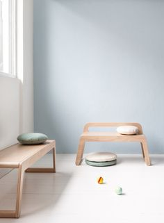 Modern, minimal children's furniture http://petitandsmall.com/new-b-bench-rafa-kid/ #furniture #kids