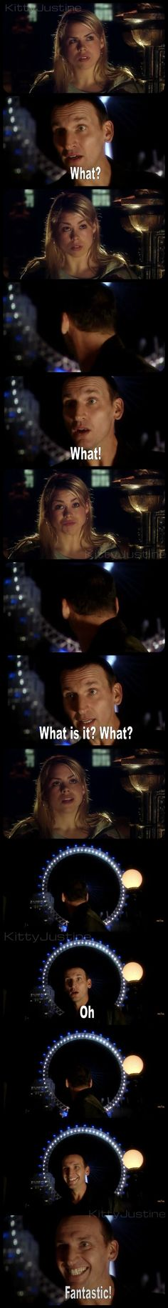 Christopher Eccleston as the Ninth Doctor with Billie Piper as Rose Tyler… Doctor Who, The Doctor, Serie Doctor, Ninth Doctor, Ella Enchanted, Christopher Eccleston, Out Of Touch, Fandoms, Don't Blink